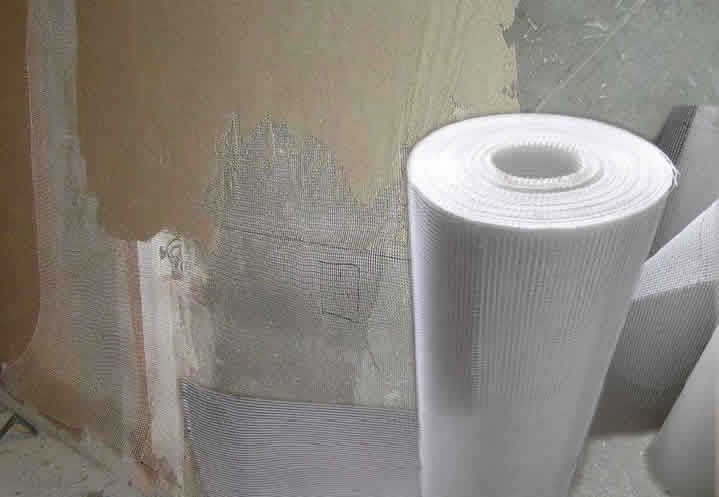 Interior Wall Reinforcing and Mending Fiber Mesh Rolls