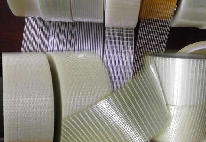 PET cross weave fiberglass filament tape